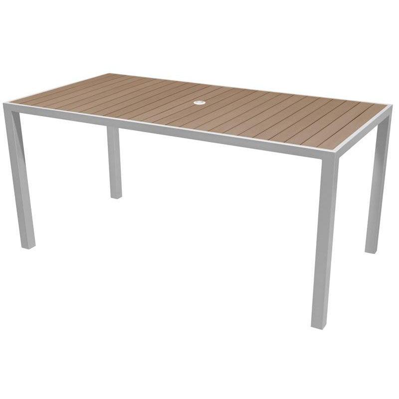 ... Our Sedona 36u0027u0027 X 72u0027u0027 Rectangular Table With Gray Nevada Slat Table ...
