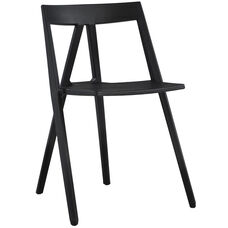 Milan Resin Polypropylene Stackable Event Chair - Set of 4 - Black