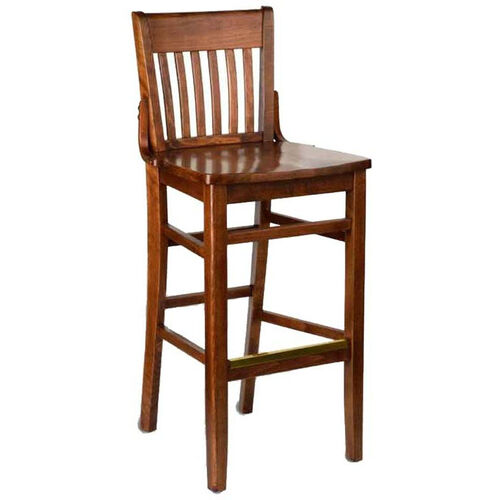 Henry Bar Stool - Wood Seat