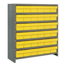 7 Shelf Closed Unit with 36 Bins - Yellow
