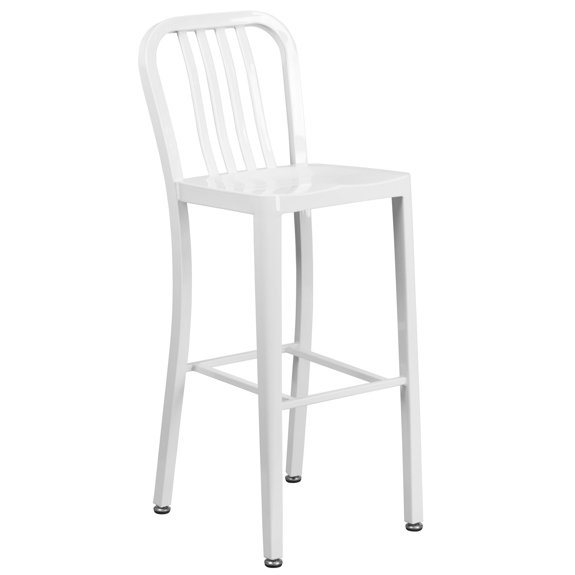 30 White Metal Outdoor Stool Ch 61200