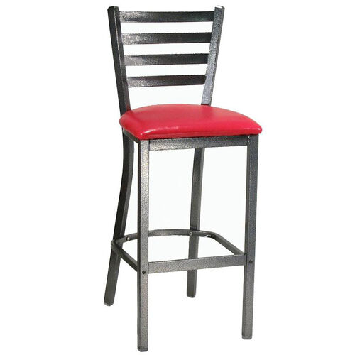 Our Metal Ladder Back Barstool with Silver Vein Finish is on sale now.