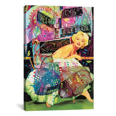 Marilyn In NYC - A Homage to Steve Kaufman by Dean Russo Gallery Wrapped Canvas Artwork - 18