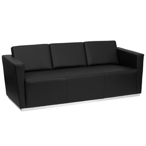 Our HERCULES Trinity Series Contemporary Black LeatherSoft Sofa with Stainless Steel Base is on sale now.