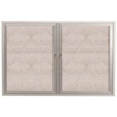 2 Door Outdoor Enclosed Bulletin Board with Aluminum Frame - 36