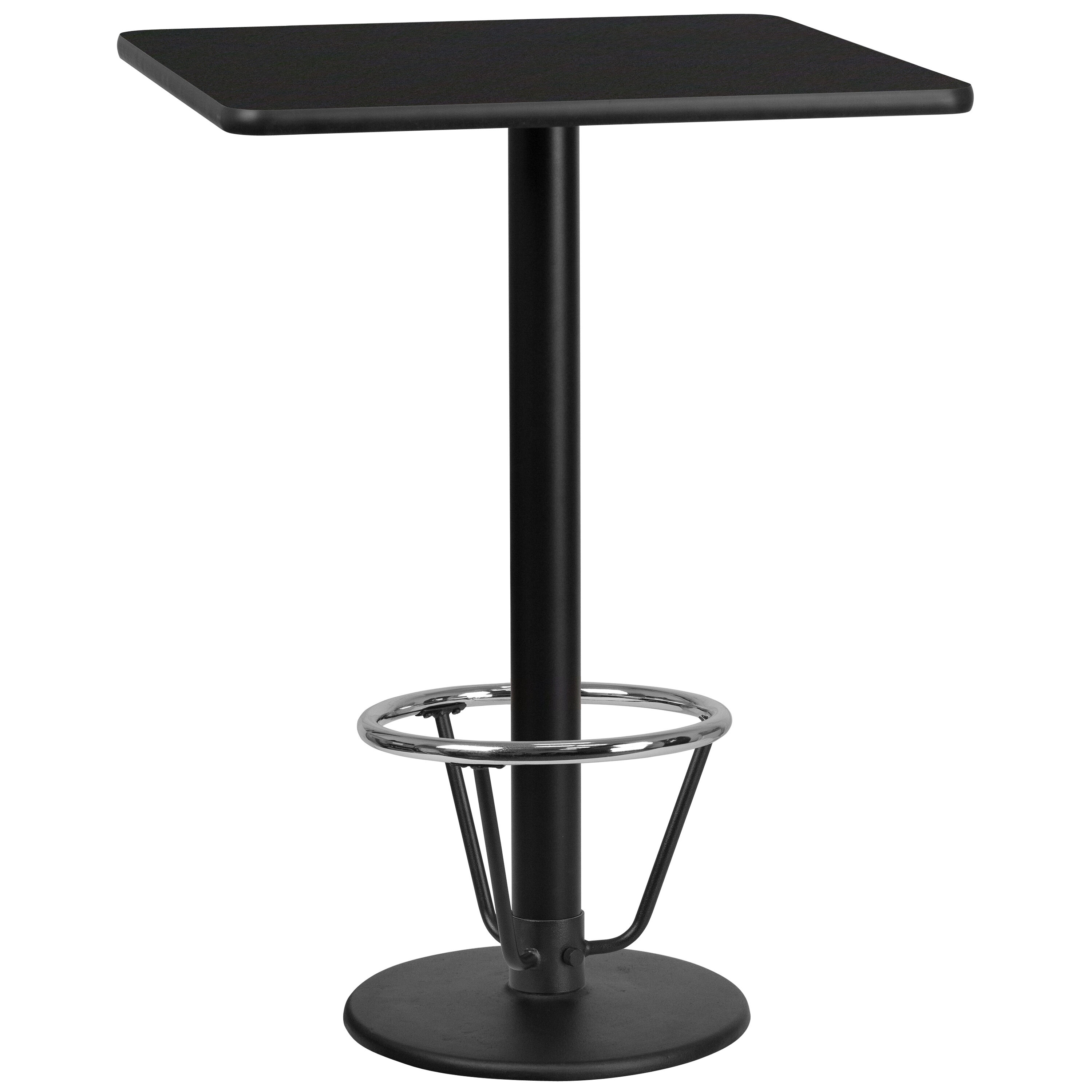 Exceptionnel ... Our 30u0027u0027 Square Black Laminate Table Top With 18u0027u0027 Round Bar Height