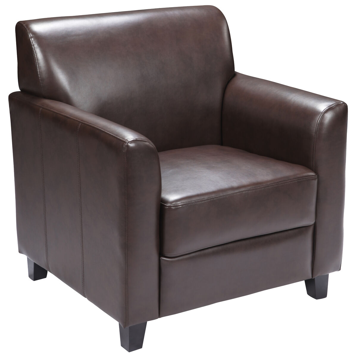 Brown Leather Chair Bt 827 1 Bn Gg