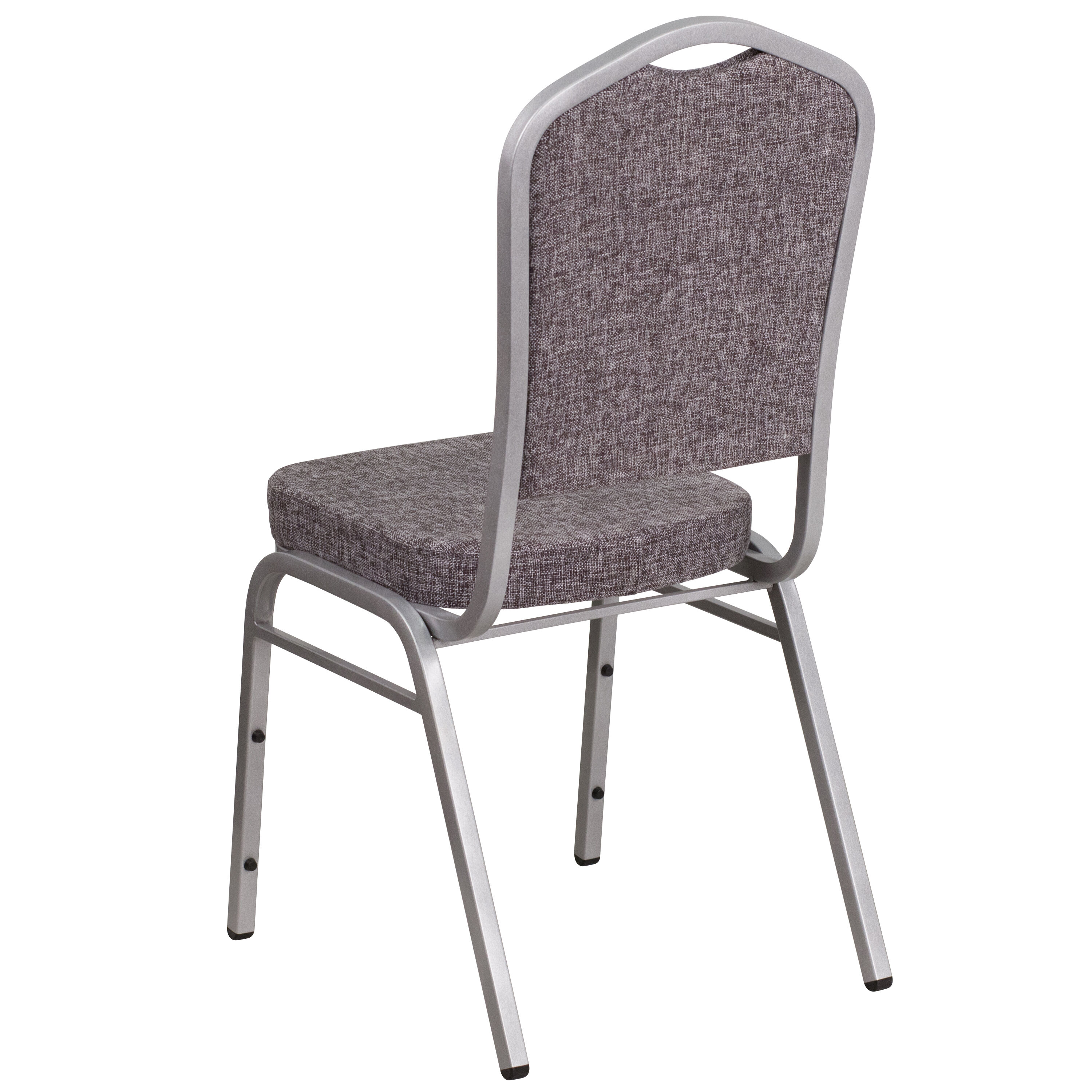 ... Our HERCULES Series Crown Back Stacking Banquet Chair In Herringbone  Fabric   Silver Frame Is On ...