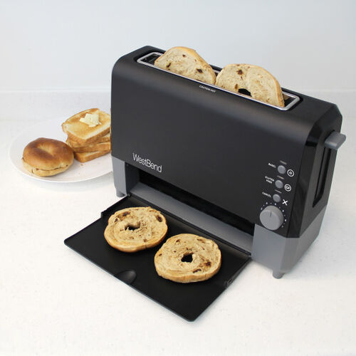 West Bend 77224 Quikserve Toaster, Black