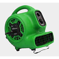 P-230AT Mini Air Mover with Built-in Power Outlets for Daisy Chain Capability and 1/5 HP - Green