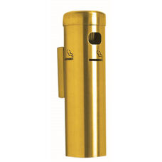 Wall Mounted Aluminum Cigarette Receptacle - Gold Finish