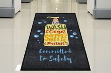 """Committed to Safety"" Message Floor Mat - 59"