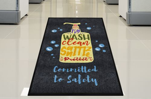 "Our ""Committed to Safety"" Message Floor Mat - 59"