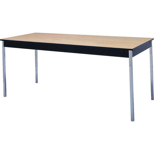 Stationary Series Rectangular Conference Table with Vinyl Flush Edge and Laminate Top - 30