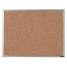 Economy Series Natural Pebble Grain Cork Bulletin Board with Aluminum Frame