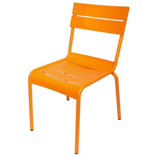 Beachcomber Stackable Outdoor Aluminum Armless Chair - Citrus