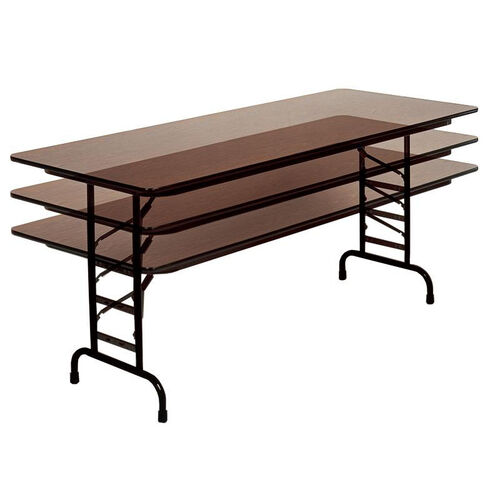 Our Adjustable Height Rectangular Melamine Top Folding Table - 36
