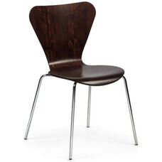 Clover Steel Frame Stacking Chair - Dark Walnut