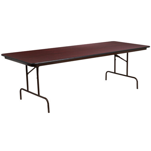 8-Foot Mahogany Melamine Laminate Folding Banquet Table