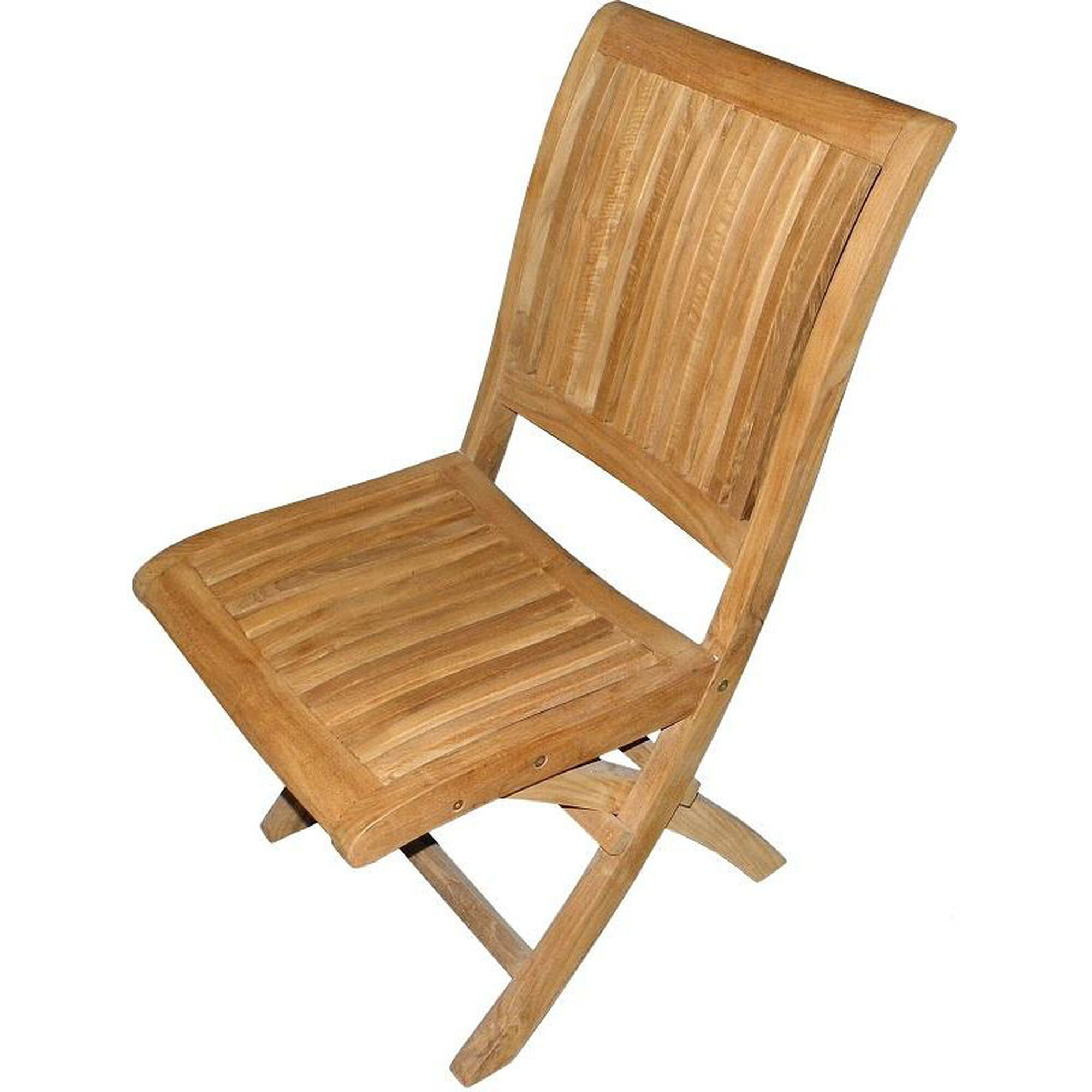 Our Alice Sturdy Natural Unfinished Stackable Teak Folding