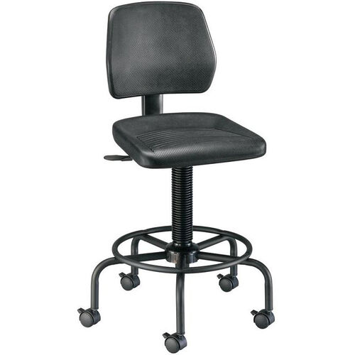 Our Adjustable Height Utility Stool with Backrest - Black is on sale now.
