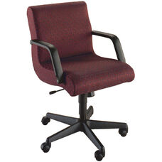 Quick Ship Scoop Management Swivel Chair with Black Urethane Arms
