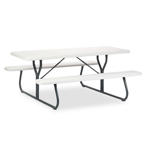Our Iceberg IndestrucTables Too 1200 Series Resin Picnic Table - 72w x 30d - Platinum/Gray is on sale now.