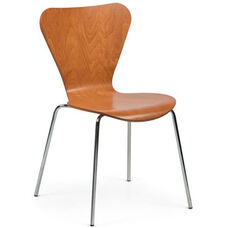 Clover Steel Frame Stacking Chair - Honey Beech