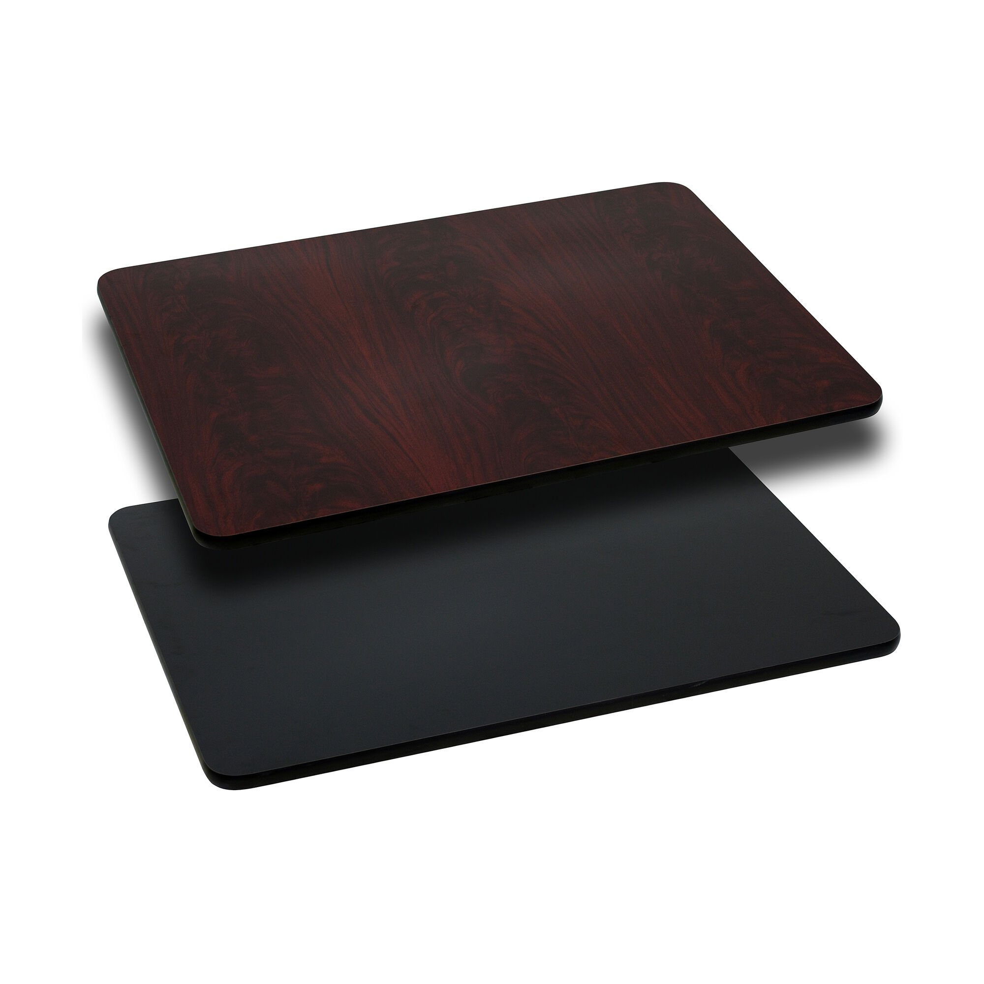 30 X 42 Rectangular Table Top With Reversible Black Or Gany Laminate