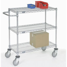 Chrome Adjustable Wire Shelf Cart - 24