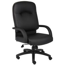 High Back Caressoft™ Executive Task Chair - Black