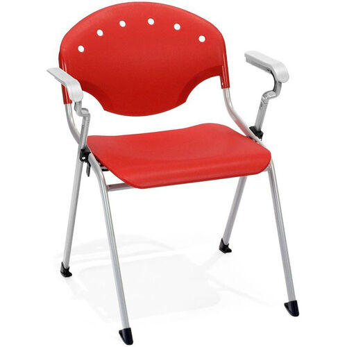 Our Rico 300lb. Capacity Stack Chair with Arms and 17.50