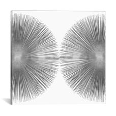 Silver Sunburst II by Abby Young Gallery Wrapped Canvas Artwork