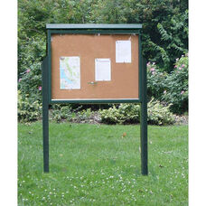 Large Two Side Recycled Plastic Message Center with 2 Posts