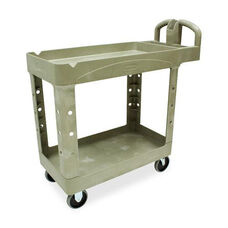 Rubbermaid Commercial Products Two-tiered Full Service Utility Cart - 18