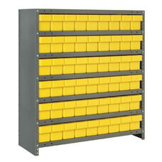7 Shelf Closed Unit with 54 Drawers - Yellow