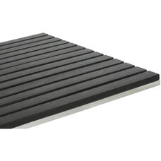 Vienna 36'' Square Durawood Slat Table Top with Powder Coated Aluminum Frame - Black
