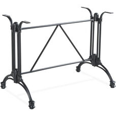 Rose 2 Cast Aluminum Decorative Table Base - Black Powder Coat