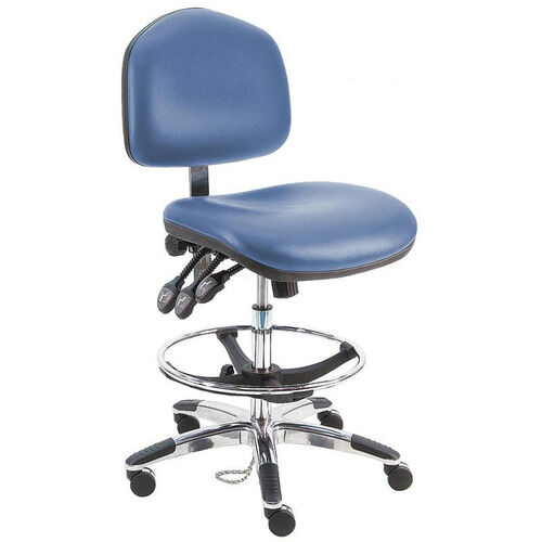 Deluxe Ergonomic ESD - Anti Static Vinyl Chair - Aluminum Base