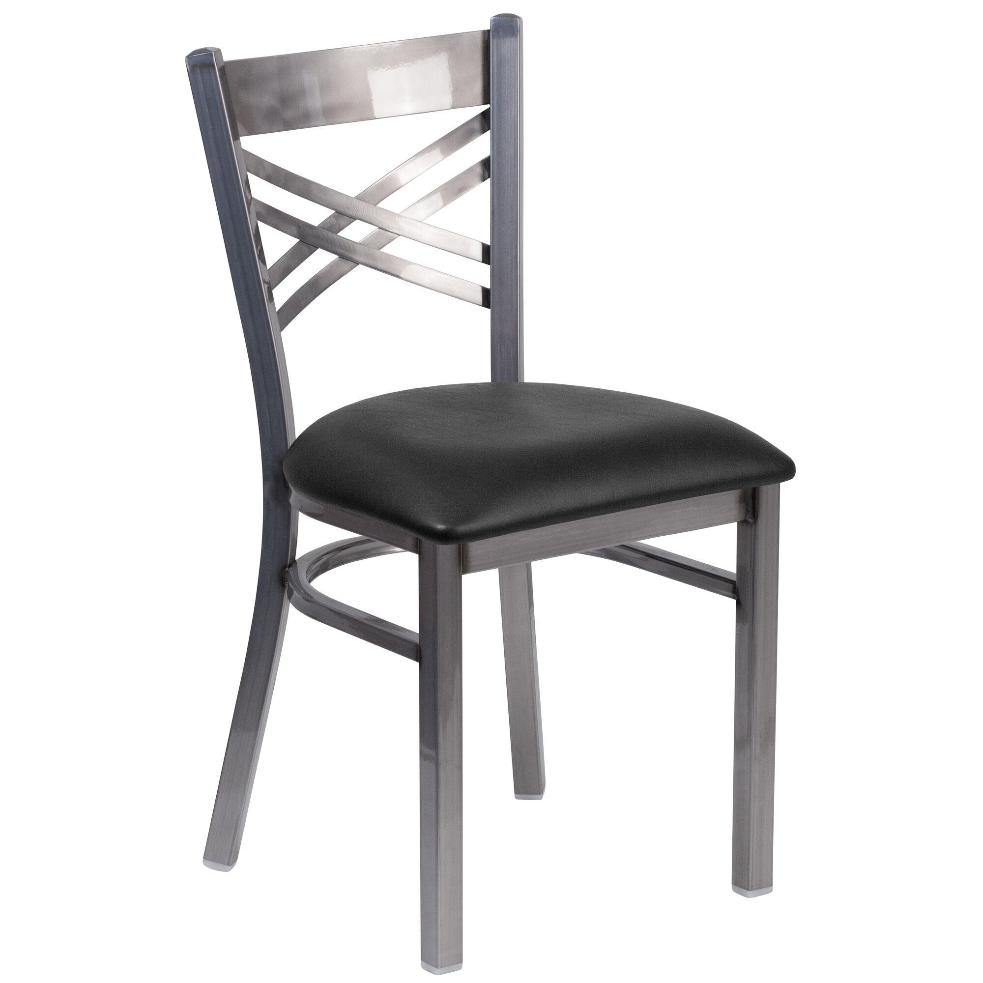 Clear chair black seat bfdh clrbk tdr