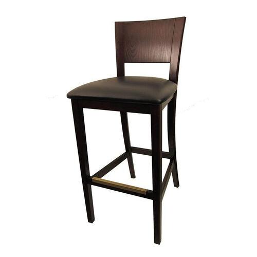 Dining Barstool with Dark Brown Finish