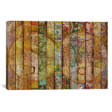 Around the World in Thirteen Maps by Diego Tirigall Gallery Wrapped Canvas Artwork