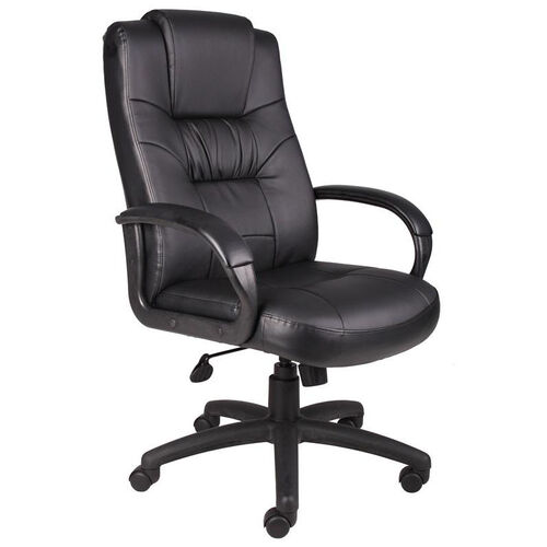 Our High Back Executive Leather Chair with Padded Armrests - Black is on sale now.