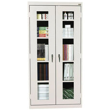See-Thru Series 36'' W x 24'' D x 72'' H Clear View Storage Cabinet - Dove Gray