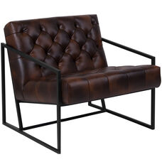 Hercules Madison Series Er Jacket Leather Tufted Lounge Chair