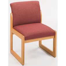 Classic Series Full Back Armless Guest Chair with Sled Base