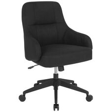 Dinan Home and Office Upholstered Mid-Back Chair in Black Fabric