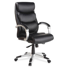 Lorell High -Back Executive Chair - Leather - Flex Arms - 30