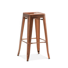 Dreux Stackable Vintage Copper Steel Barstool - Set of 4