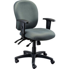 Racer 26'' W x 25'' D x 37'' H Adjustable Height Mid Back Multi Function Task Chair - Healthcare Fabrix